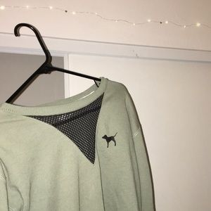 Olive Green Pink long sleeve sweatshirt
